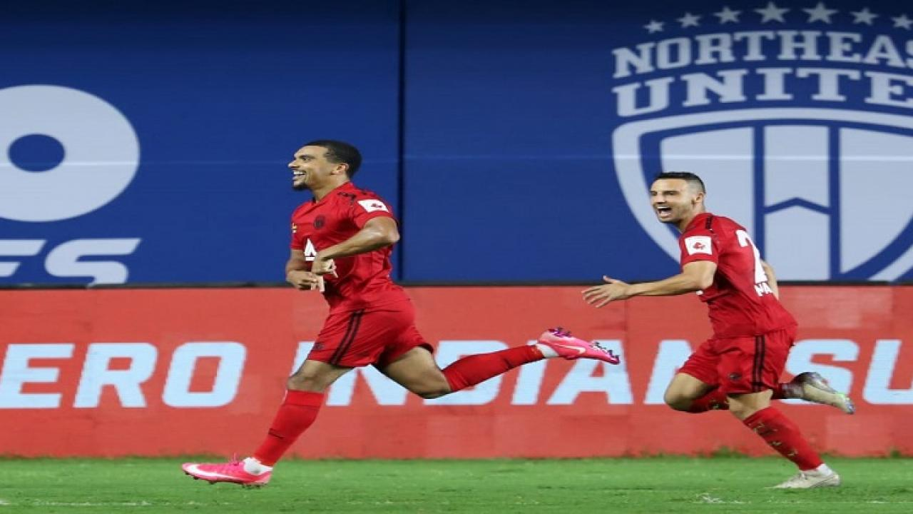Northeast beats Mumbai City in Indian Super League match played in Vasco