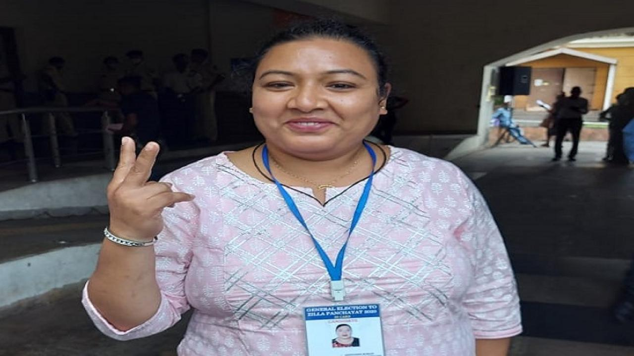 Congress candidate Asusiana Rodriguez wins from Nuve constituency of South Goa District Panchayat