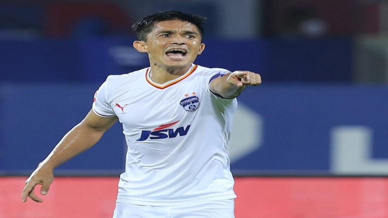 Bangalore FC captain Sunil Chhetri records to contribute for 50 goals in Indian Super League