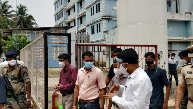 Chief Minister Pramod Sawant along with officials visited South Goa District Covid-19 Hospital