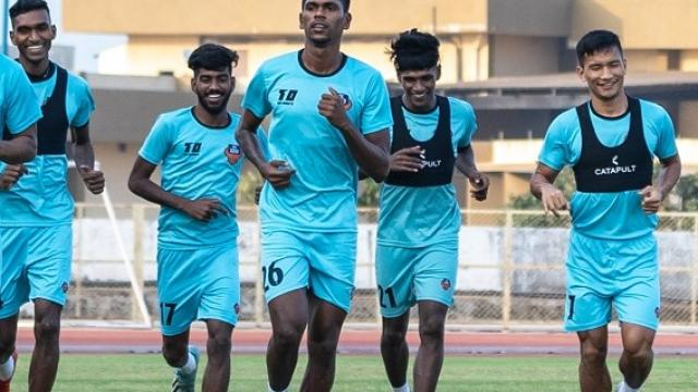 FC Goa players at Training