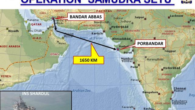 """Navy launches """"Sea Bridge"""" operation to evacuate Indians from Iran"""
