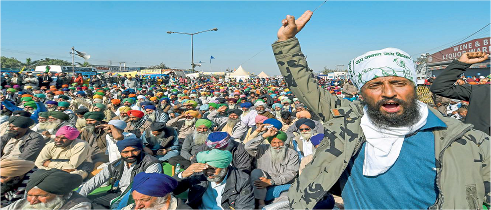 Farmers agitation against agriculture law by central government continues on Sindhu border