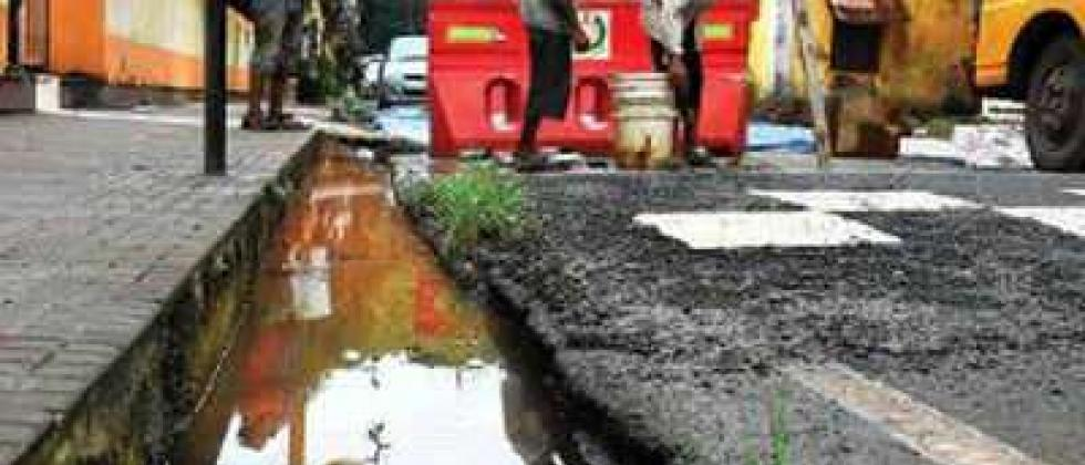 lack of  workers for mansoon drainage work