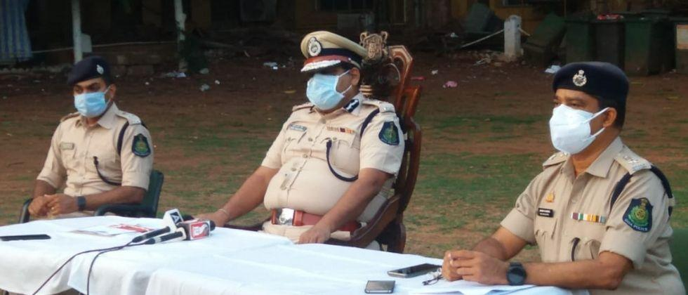 Strict action of Goa police against those who leave their homes without any reason
