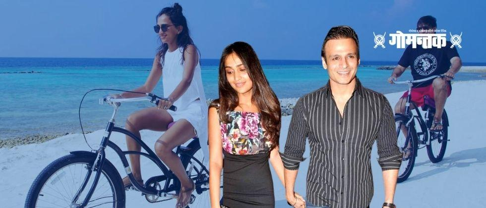 Vivek Oberoi was enjoying a bike ride with his wife