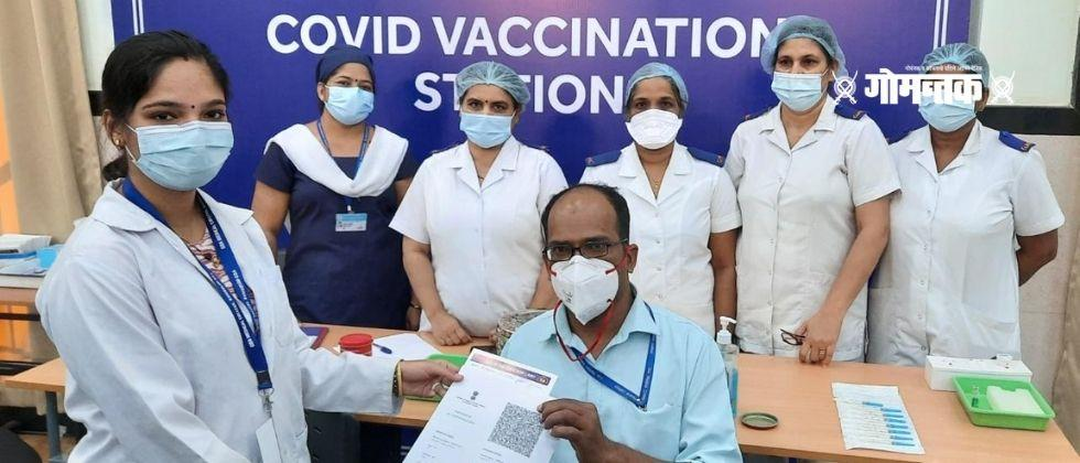 Vaccine Distribution of digital certificates in Goa