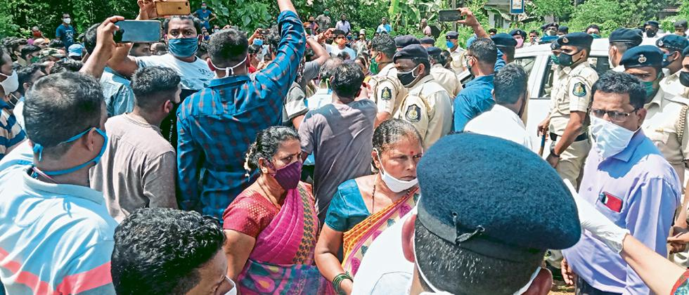 Guleli peoples protest against IIT project