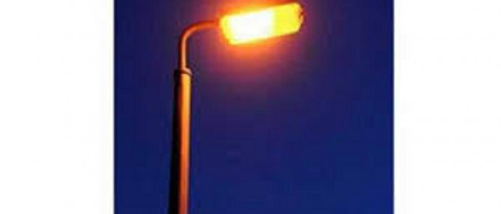 Street lamps start at day and close at night