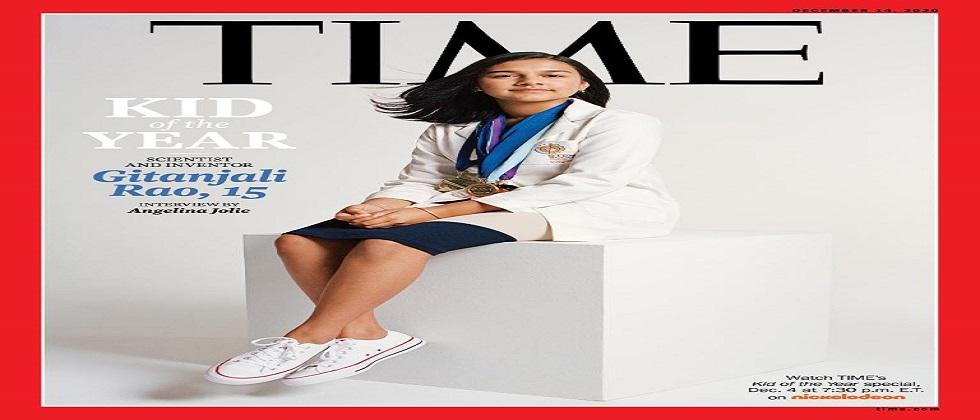 15 year old Indian American Gitanjali Rao receives Kid of the year award by world famous Time magazine