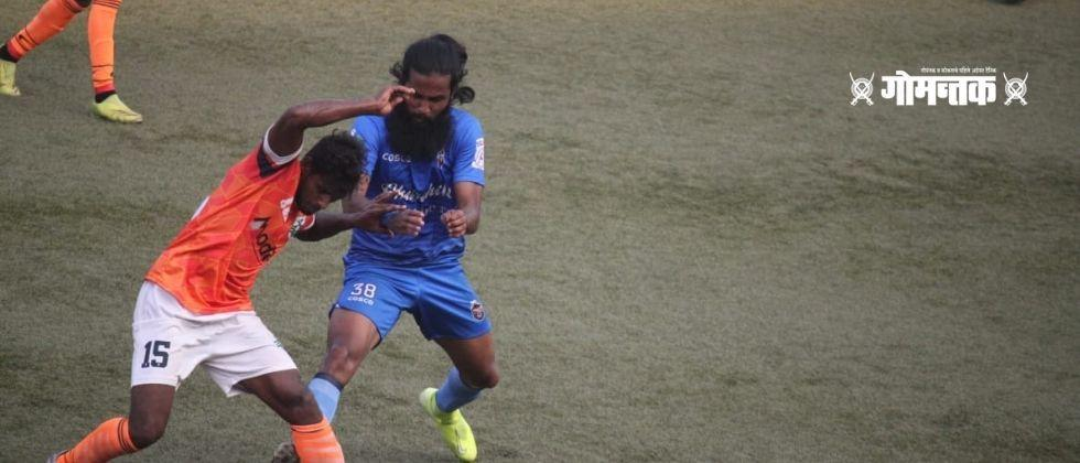 Opportunity in the latter half achieved by Sporting Goa beat Churchill Brothers by two goals in the professional league