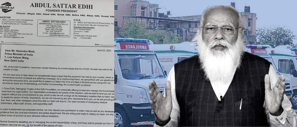 Pakistans Edhi organization extended a helping hand to India