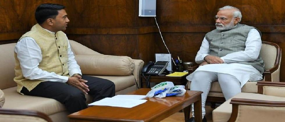 CM sawant met PM modi on various issues