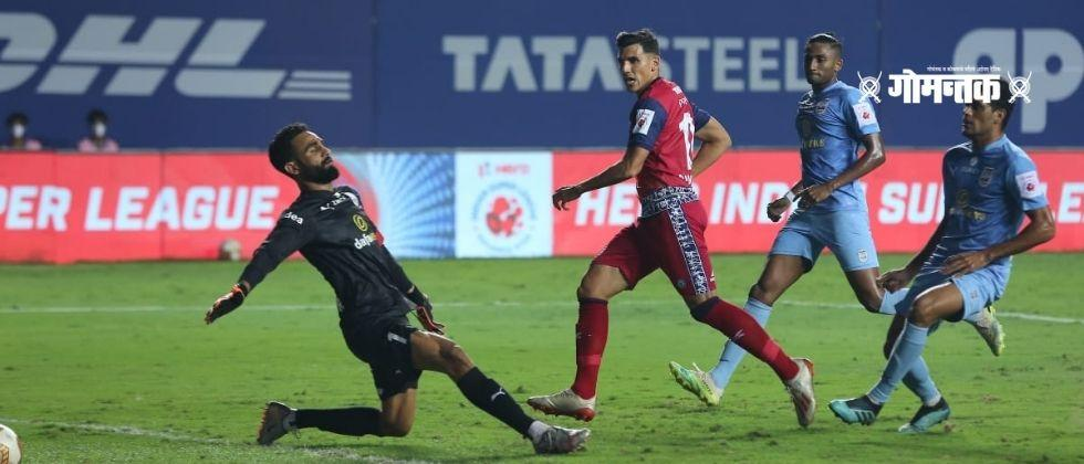 ISL 202021 Mumbai Citys defeat shakes Sensational victory of Jamshedpur due to the goal of the substitutes