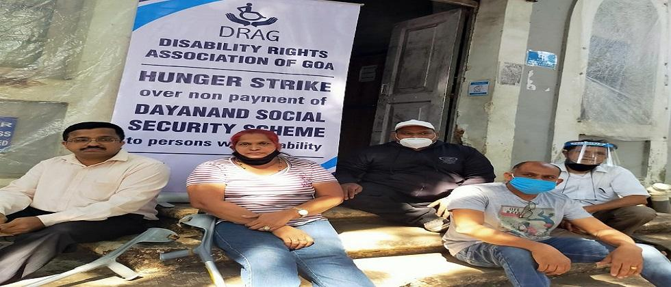 hunger strike of Disability Rights Association of Goa (DRAG)