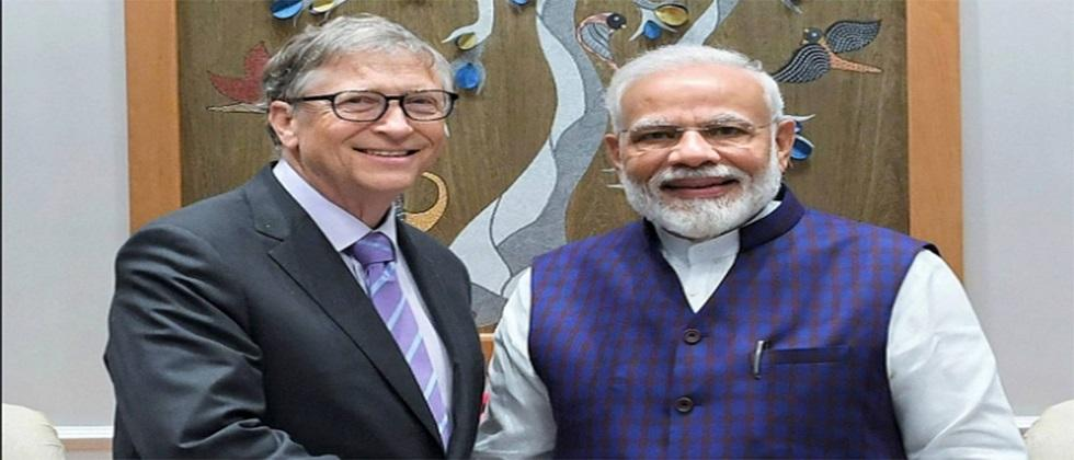 Bill Gates appreciates PM Modi for his work in corona pandemic