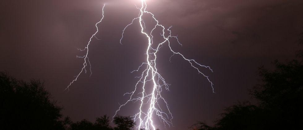 Major damage due to lightning strike on a house in goa