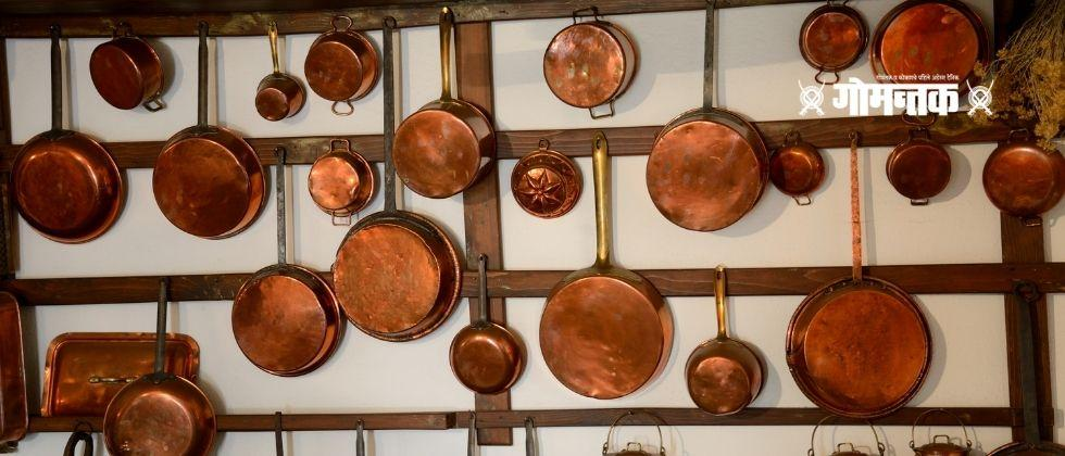 Food and water eaten in copper pots is beneficial for health