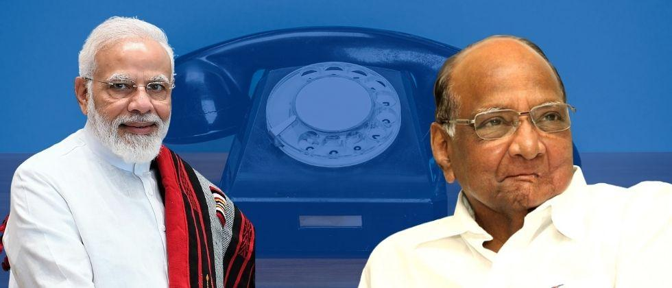 Prime Minister Narendra Modi inquired about Sharad Pawar health over the phone