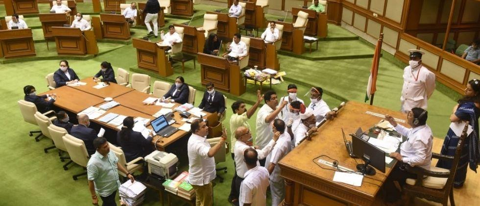 Goa Assembly Opposition leaders have taken an aggressive stance on the issue of coal mining and the Mhadai River