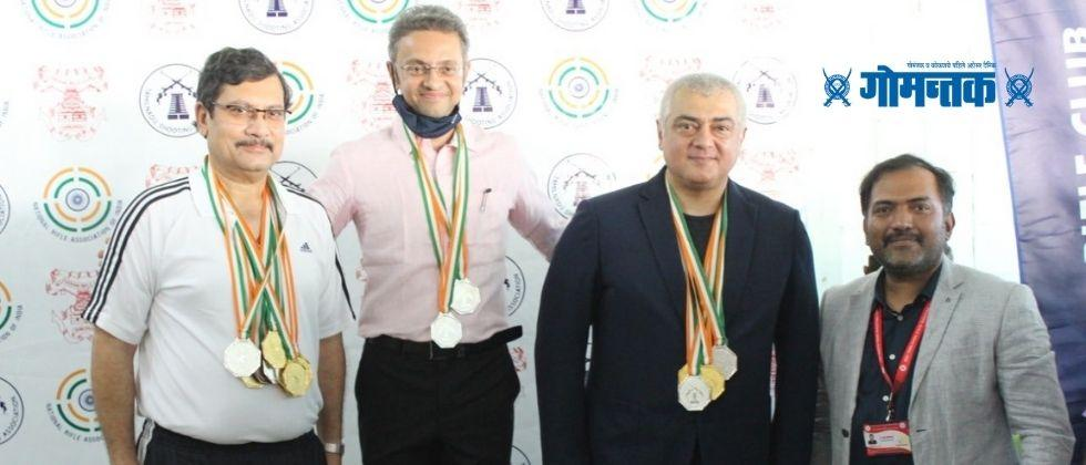 South superstar Thala Ajith won 4 gold medals in the Shooting Championship