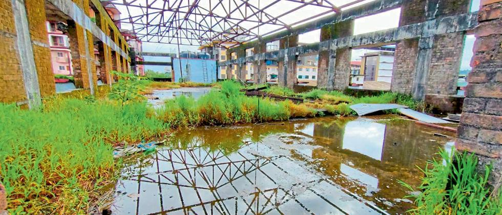 Goa: Water leakage of Mapusa fish market building