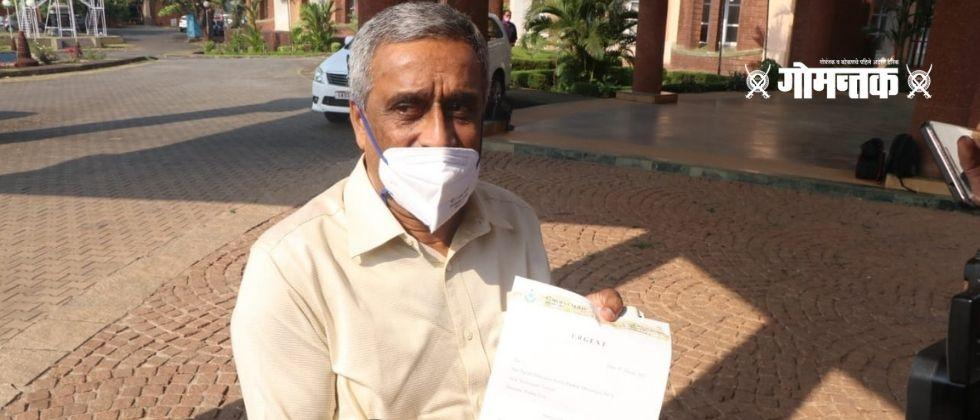 Magho MLA Sudin Dhavalikar withdrew the petition