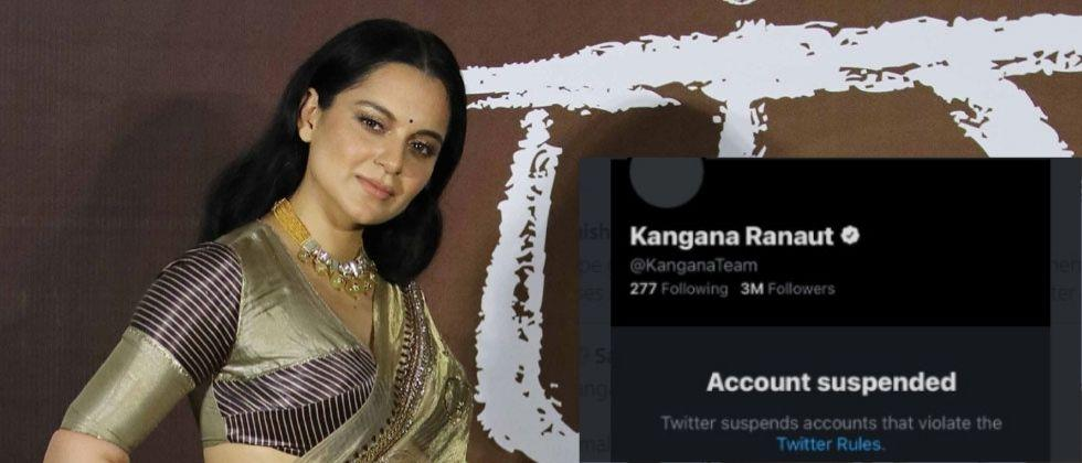 Kangana Ranauts Twitter account was suspended for making controversial tweets on social media