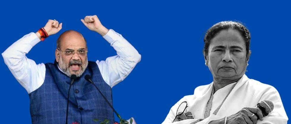 West Bengal Mamata Banerjee and Amit Shah clash after BJP workers mother dies