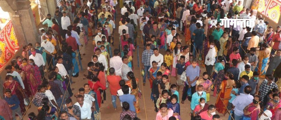 Mahashivratri 2021 Queues of devotees for the anointing of Lord Shiva in Goa since morning