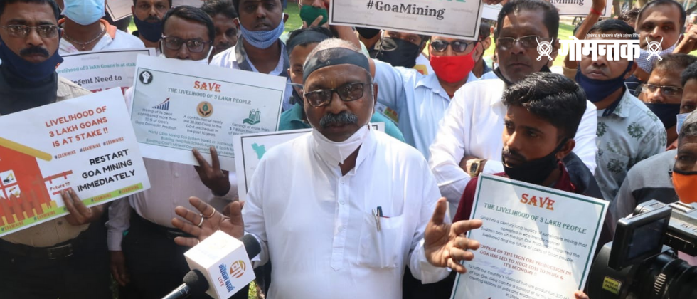 Protesters issue ultimatum 15th March to govt to start mining business in Goa