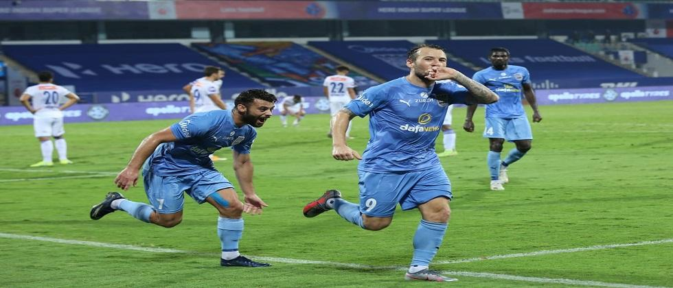 Mumbai City tops the point table of Indian Super League 2020 by beating chennaiyin FC yesterday