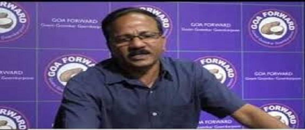Prashant Naik of Goa Forward party is aggressive on the water issue of Kankon