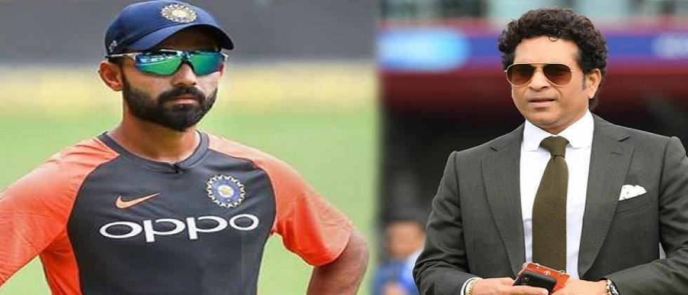 Sachin Tendulkar on Ajinkya Rahanes captaincy Rahane is calm doesnt mean he is not aggressive