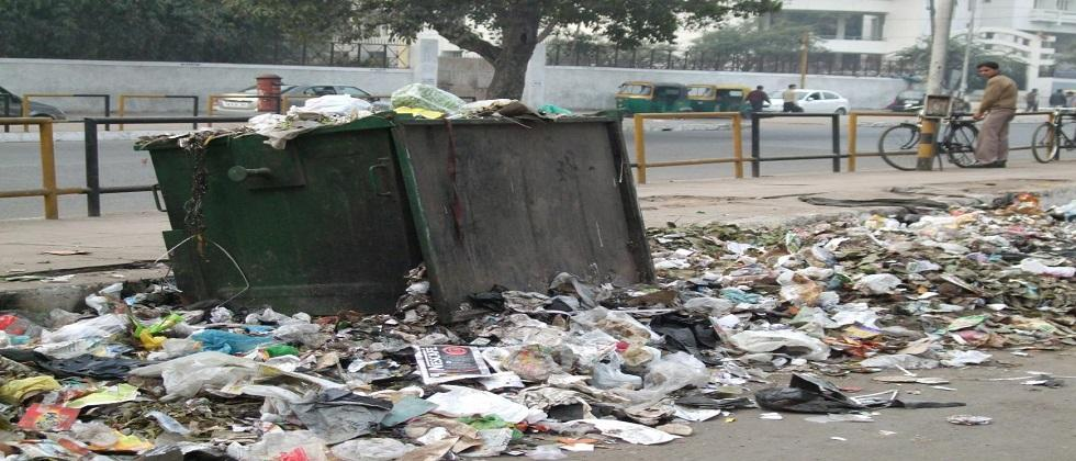 The villagers strongly opposed the construction of sheds for waste management