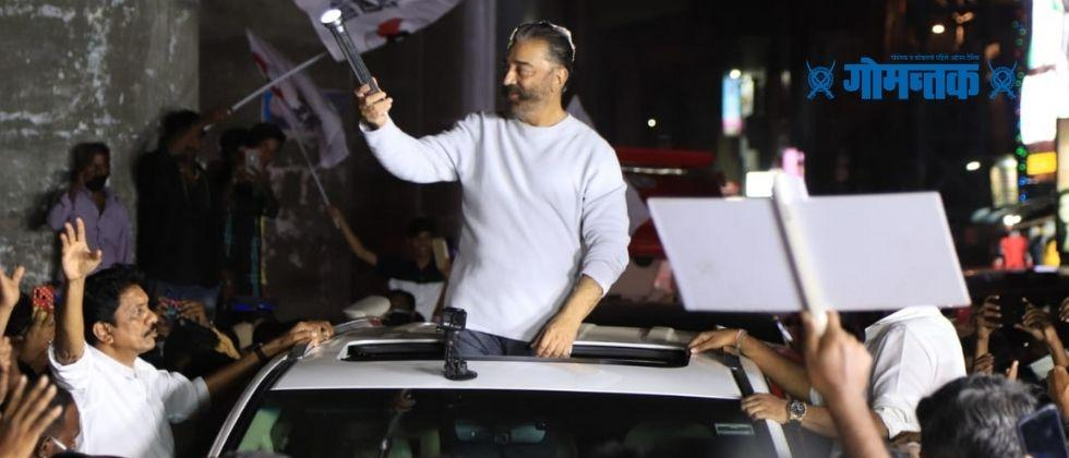 Kamal Haasan car attacked by unknown assailants