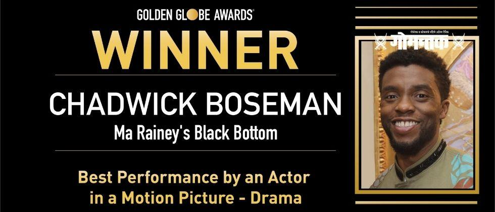 Golden Globes 2021 Chadwick Boseman  Posthumously won a best actor award at the Golden Globes