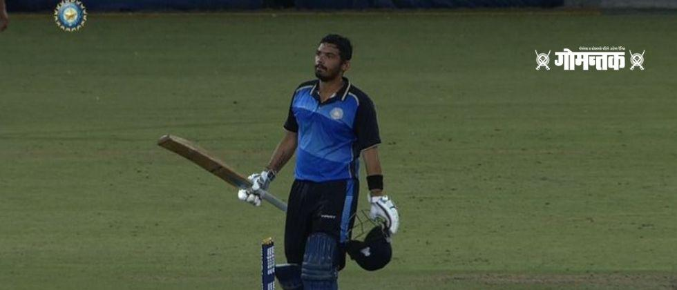 In the Elite D group of the T 20 cricket tournament Saurashtra won the match by 90 runs for the third time in a row