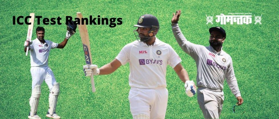 ICC Test Rankings Rohit Sharma big leap and Ashwin is in the top five in the all-rounder list