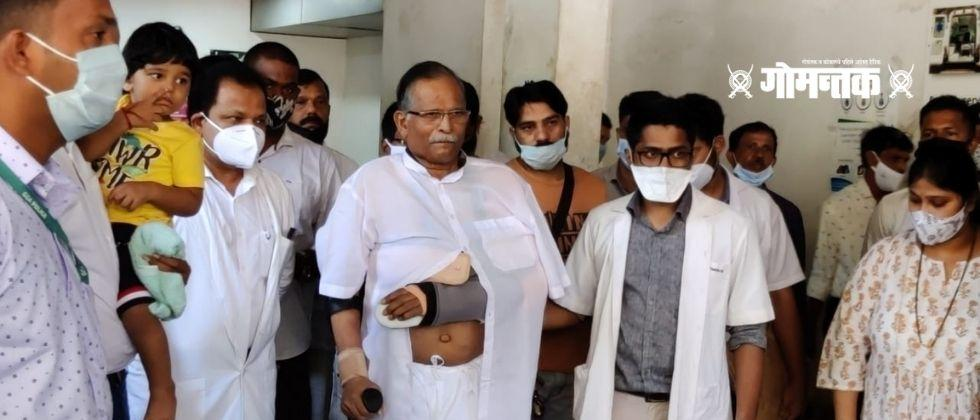 Minister of State for Defense Shripad Naik discharged from Goa Medical College