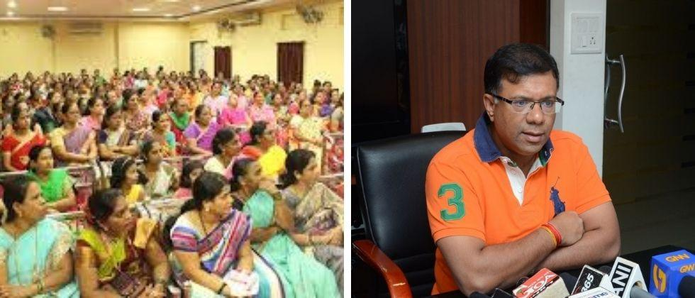 The government will implement various schemes for womens development through self help groups