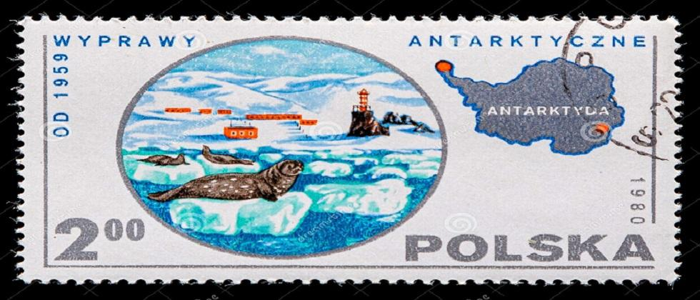 Magnificinet collection of post stamps of different countries from Antarctica