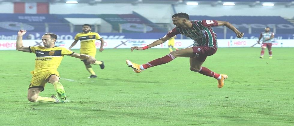 Hyderabad FC ties match with ATK Mohun Bagan by 1-1 Goal in the Indian Super League match played in Fatorda