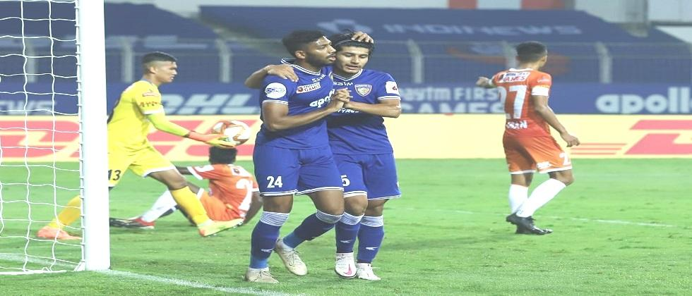 Chennaiyin FC beats FC Goa in yesterdays Indian Super League match played in Fatorda