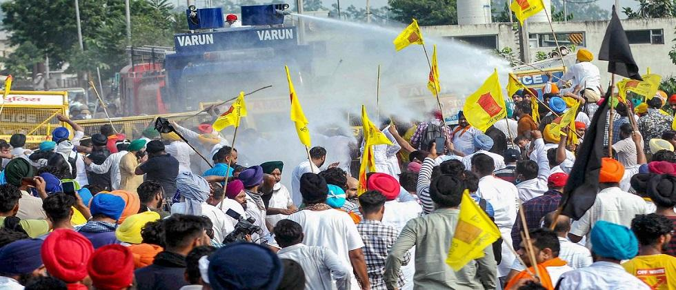 Protesters have come to Delhi against three agricultural laws