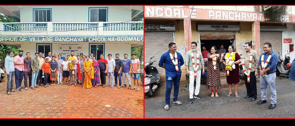 Sankalp Mahale elected Deputy sarpanch Panch of Chicolna Bogmalo ; Soccorine Vales Elected Unopposed