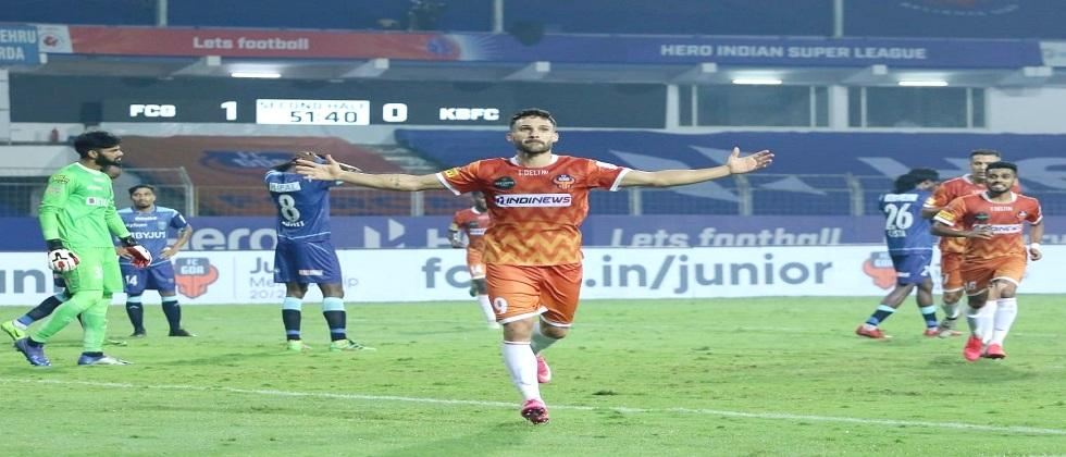 FC Goa celebrates its first victory in ISL 2020 by beating Kerala Blasters yesterday in Fatorda