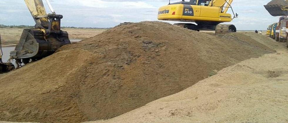 Illegal sand stocks confiscated in Amona