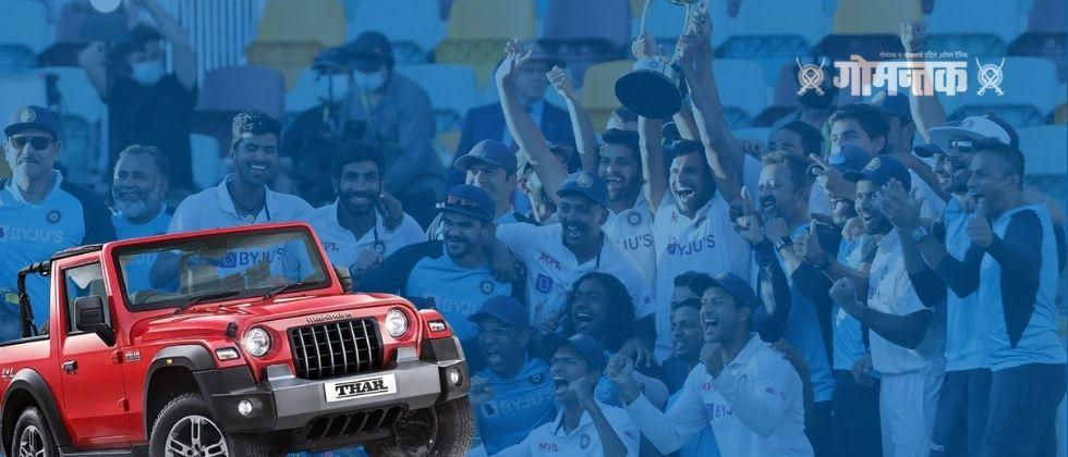Anand Mahindra to gift Thar SUVs to six Indian cricketers