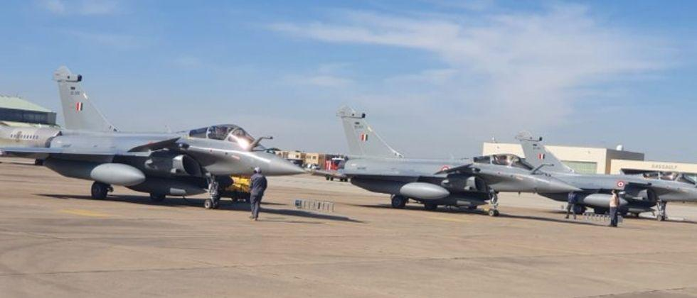 Three new Rafales fighter jets arrived in India from France